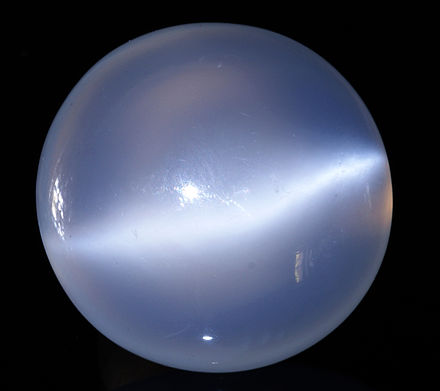 Polished moonstone.