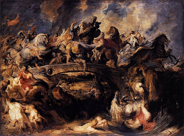 """   Battle of the Amazons   ,''   by   Peter Paul Rubens"