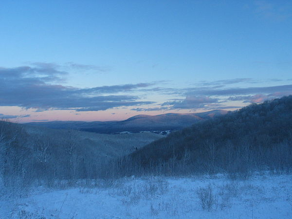 The Berkshires in the winter.