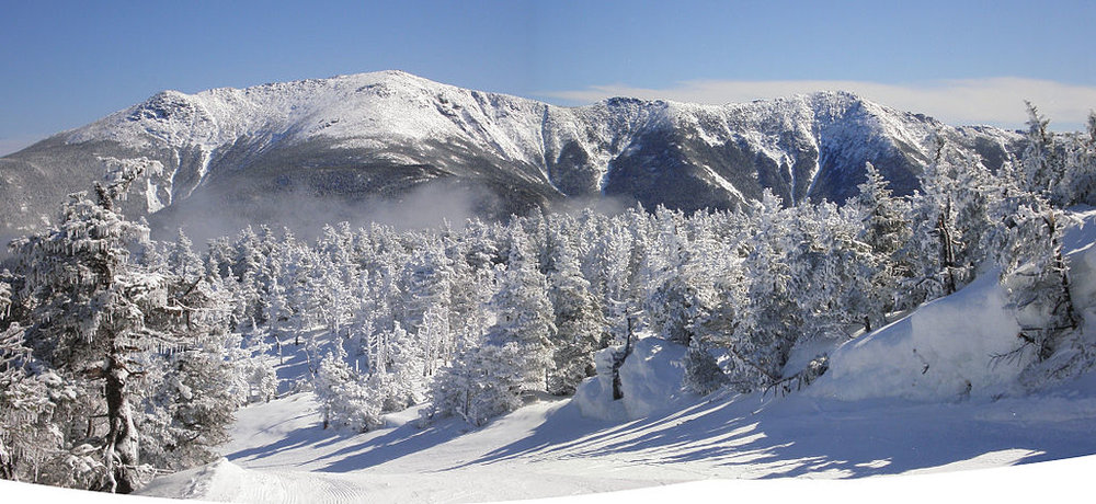 New Hampshire's Franconia Range, which Robert Frost could have seen from his home.