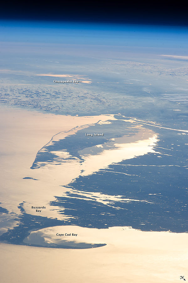Northeast bays from space.