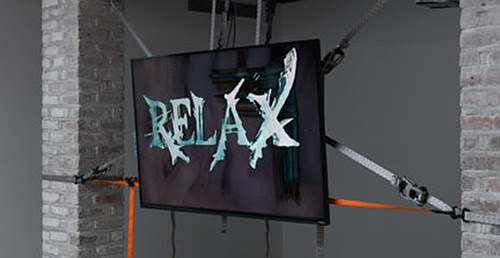 "Still from Theodore Darst's ""This Machine Makes Fascists,'' in the show ""False Flag: The Space Between Paranoia and Reason,'' at Franklin Street Works, Stamford, Conn., through Jan. 6."