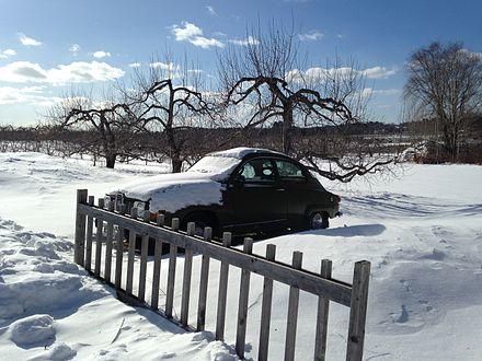 Bright but frigid day in Hollis, N.H.