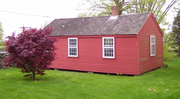 The Southernmost Schoolhouse, in Portsmouth, R.I., built in 1725 and the oldest surviving structure built for that purpose in the state. It's now a museum owned by the New England Historical Society.