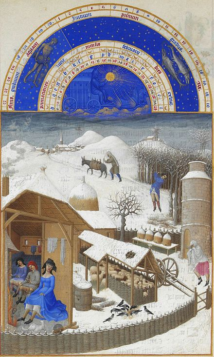 February, from the  ''  Très riches heures du Duc de Berry   .''