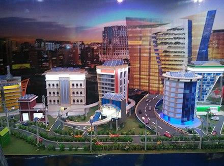 "Representation of a ""smart"" (digitized) city."