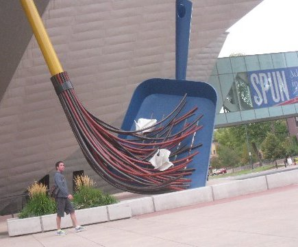"""Big Sweep''   sculpture at the    Denver Art Museum   ."