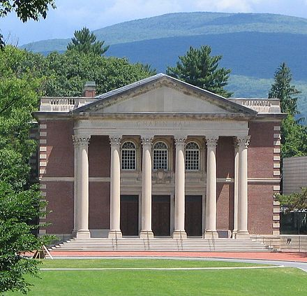 Chapin Hall at Williams College, in Williamstown, Mass., in the Berkshires.