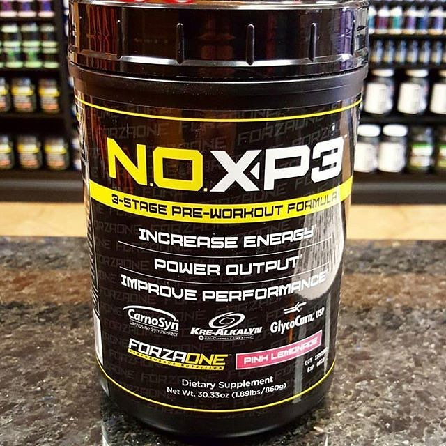 Do you want better pumps and more blood flow?! Than give NOXP3 a try! This LOW STIMULANT pre workout is great for the individual that tends to workout later in the day or the caffeine sensitive, although low in stimulants it is high in nitric oxide boosting ingredients that will help increase oxygen and blood flow to the muscle, resulting in amazing pumps!! SO if you workout late at night and want to still fall asleep easy but want the full benefits from a pre workout then this product is what you're looking for. Come on down for a FREE sample today!!