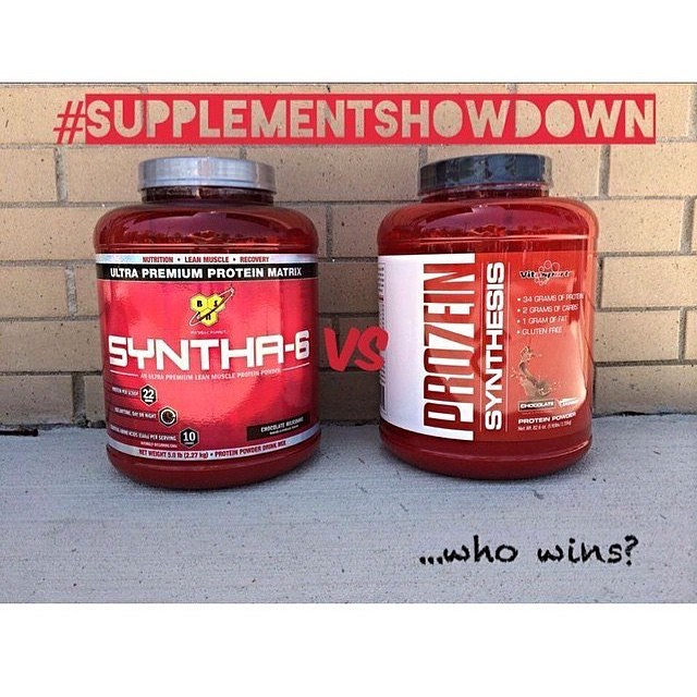 With SO many choices out there how do you know which protein is best for you and which is going to benefit your goals the most? 😩 Let us break it down for you in this weeks edition of #supplementshowdown! ..........................................🚨 BSN Syntha 6:  blended protein, aspartame free.  200 calories: 6g fat, 15g carbohydrates and 22g protein.............................................. 🚨 VITASPORT Pro7ein Synthesis: blended protein, aspartame free, contains aminogen.  162 calories: 1g fat, 2g carbohydrates and 34g of protein. ........................................ 🏆This weeks winner?🏆 Drumroll please... Pro7ein Synthesis!! Why? You get 10g more protein per scoop and almost no fat or carbs! The perfect combination to help you shred for the summer without losing your hard earned muscle! 💪 Want to try a FREE sample of this weeks winner, Pro7ein Synthesis!  #bsn