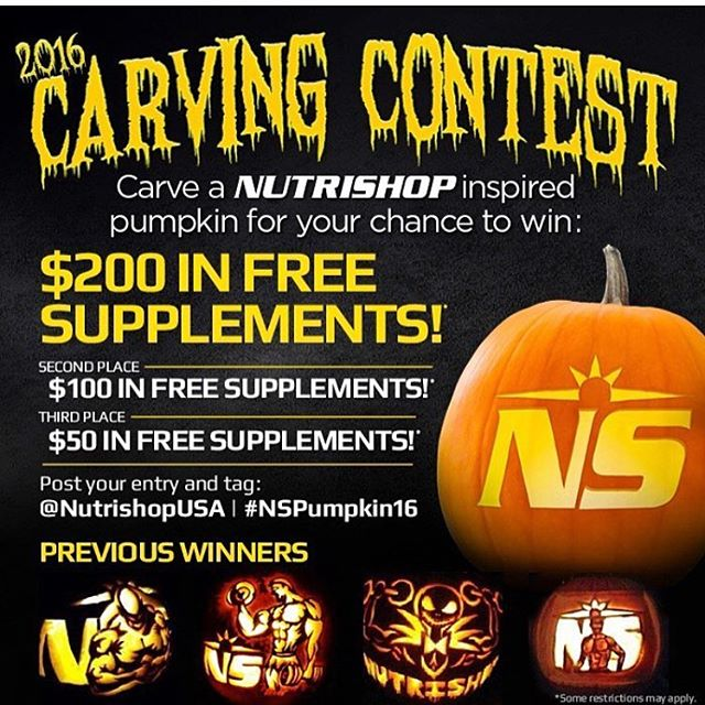 #Repost @nutrishopusa ・・・ Don't miss your chance to win! 🎃 Let's see those pumpkin carving skills! Get creative! We want to see the best Nutrishop inspired pumpkins 💪🎃 Contest ends October 31st at 5PM PST. 👻 Your page must be public to enter and don't forget to tag: #NSpumpkin16 #NutrishopUSA