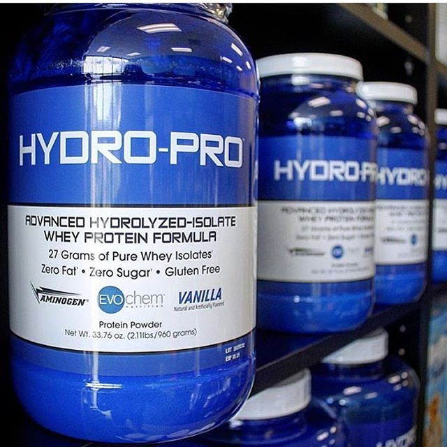 Wheysted Wednesday #HydroPro is formulated with zero fat, zero sugar, is #glutenfree and provides 27 grams of #protein per serving!