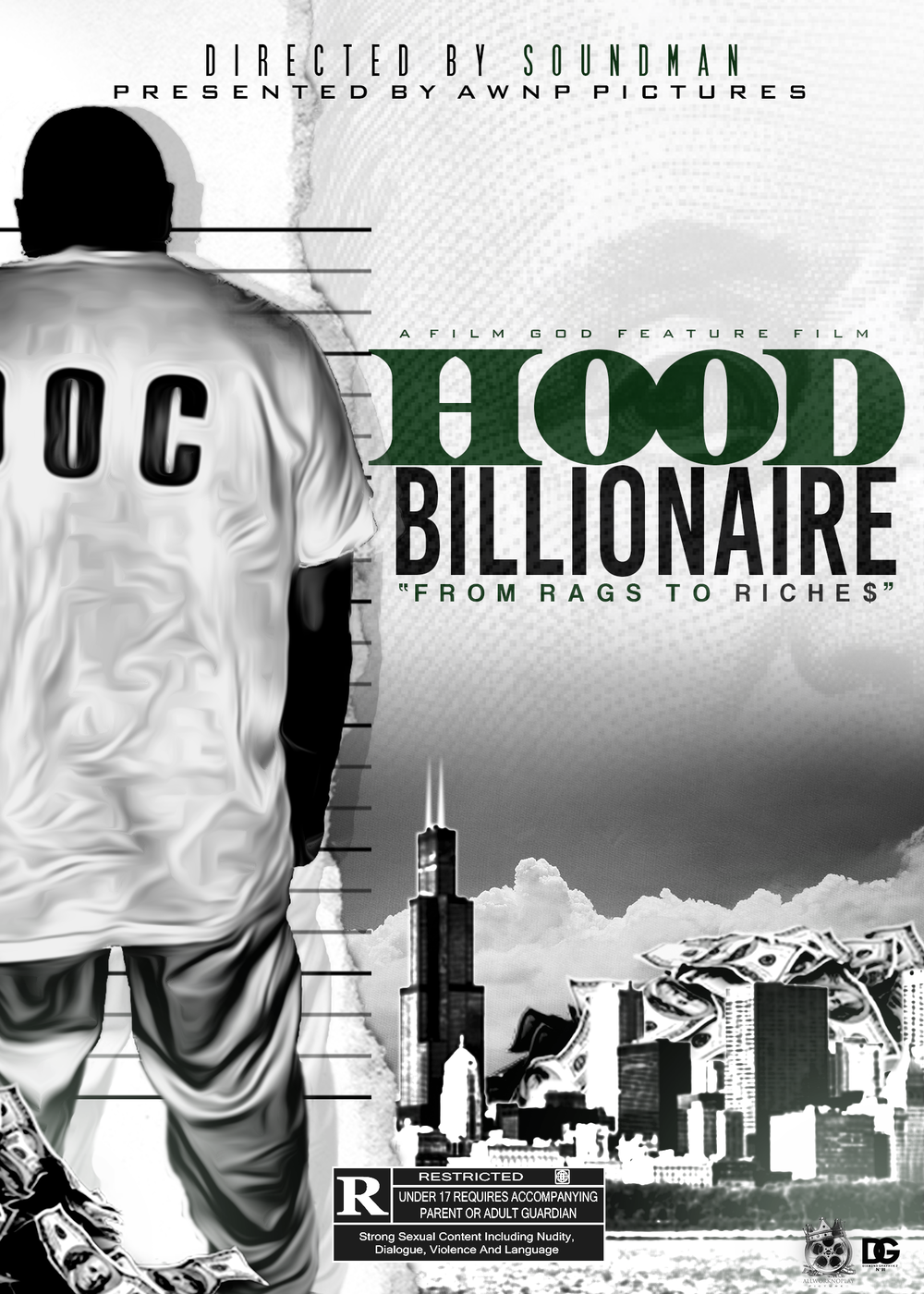 "Awnp Pictures Presents. Hood Billionaire Coming 2016. For any questions or concerns please email us. Film was written by the Founder & Director Soundman"" it hasn't been casted yet. we are looking for sponsors and investors that want to help out with this film."
