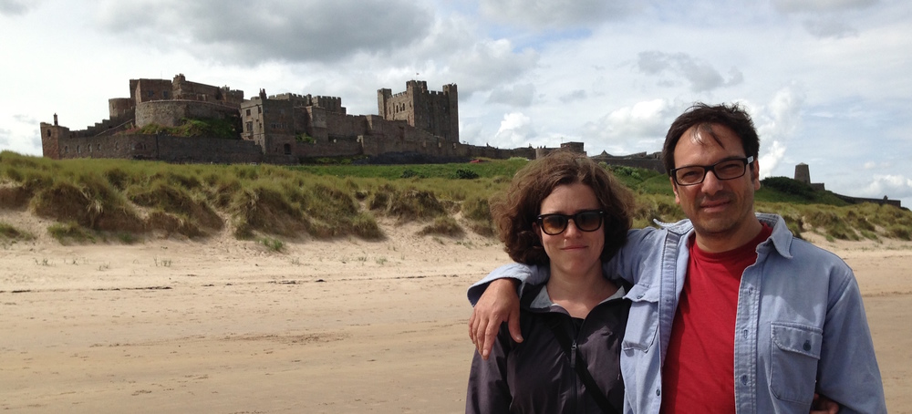 This is us in Northumberland, the coastline is very much like the Bay of Fundy, but there are not nearly as many castles.