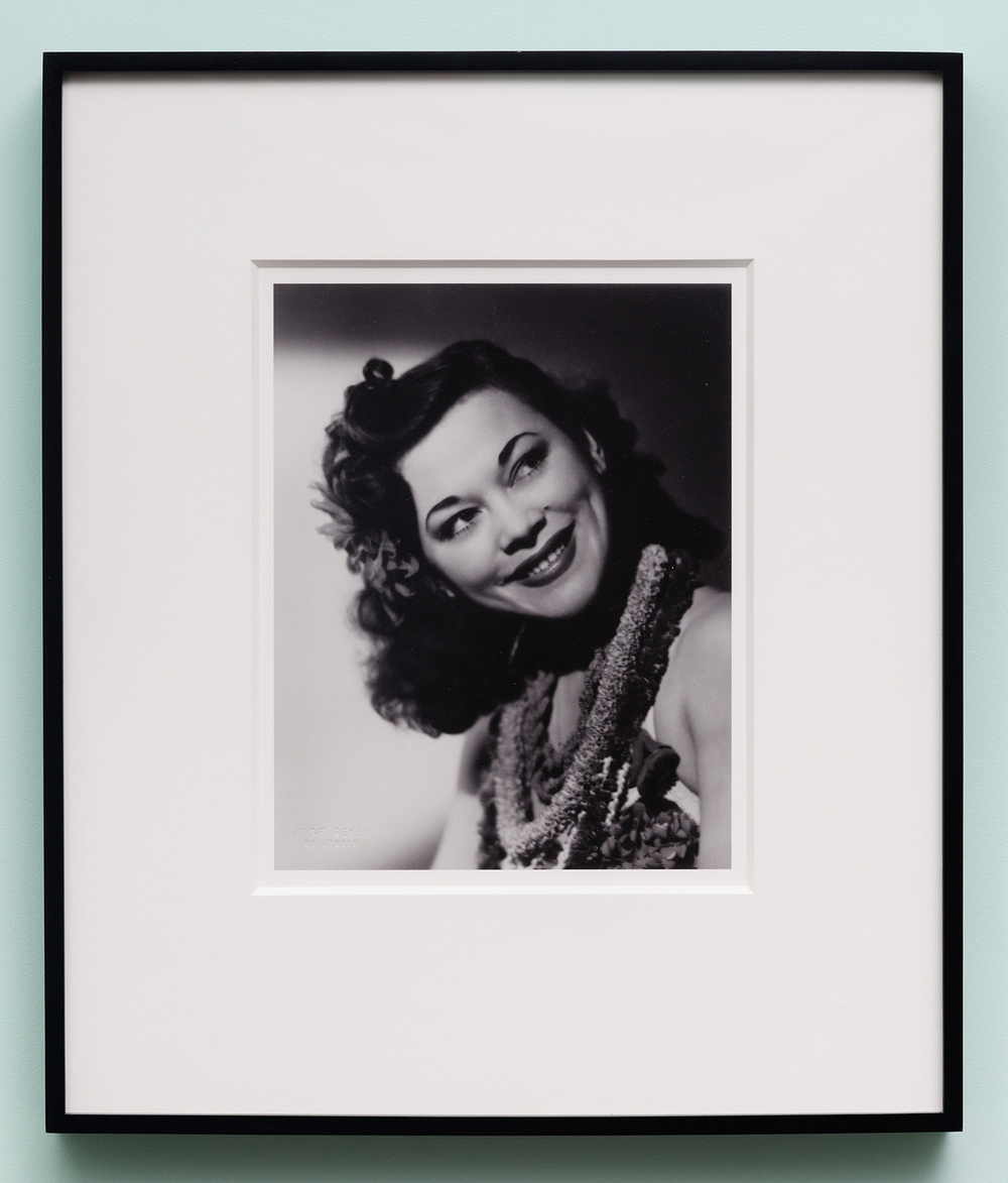 Miljohn Ruperto   Studio Portrait by Jose Reyes, Hollywood, CA 1940 (close up, Polynesian, tilt)   2010  Photograph  10 x 8 inches
