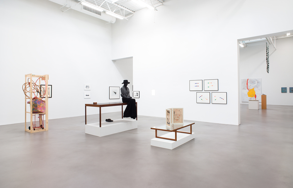 A Machinery for Living , Petzel, New York, NY, 2014.    Rachel Harrison, Dr. Dain L. Tasker, Lewis Baltz, Christopher Williams,BassamFellows, Claire Fontaine, Romain Kremer, Atelier EB, James Welling, Jay DeFeo, Joaquim Tenreiro, Francis Picabia, and Morgan Fisher