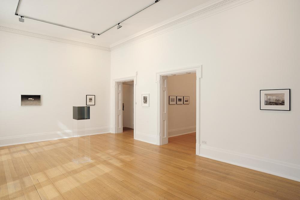 Sunless , Thomas Dane Gallery, London, United Kingdom, 2010.    Ed Ruscha, Larry Bell, Jay DeFeo,Robert Heinecken, and Thomas Barrow