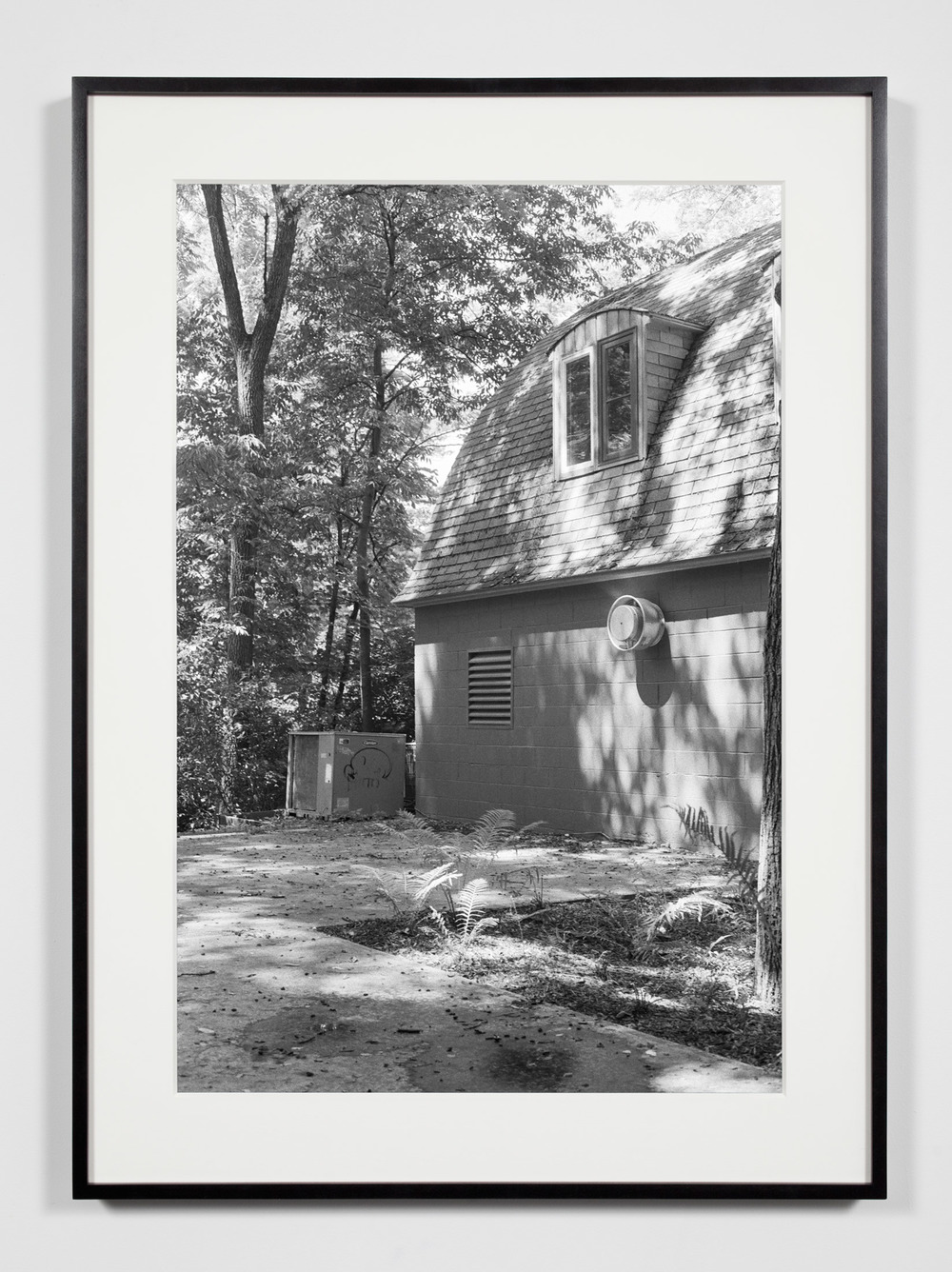 College Darkroom Building, Annandale-on-Hudson, New York, July 11, 2009    2011   Epson Ultrachrome K3 archival ink jet print on Hahnemühle Photo Rag paper  36 3/8 x 26 3/8 inches   Industrial Portraits, 2008–
