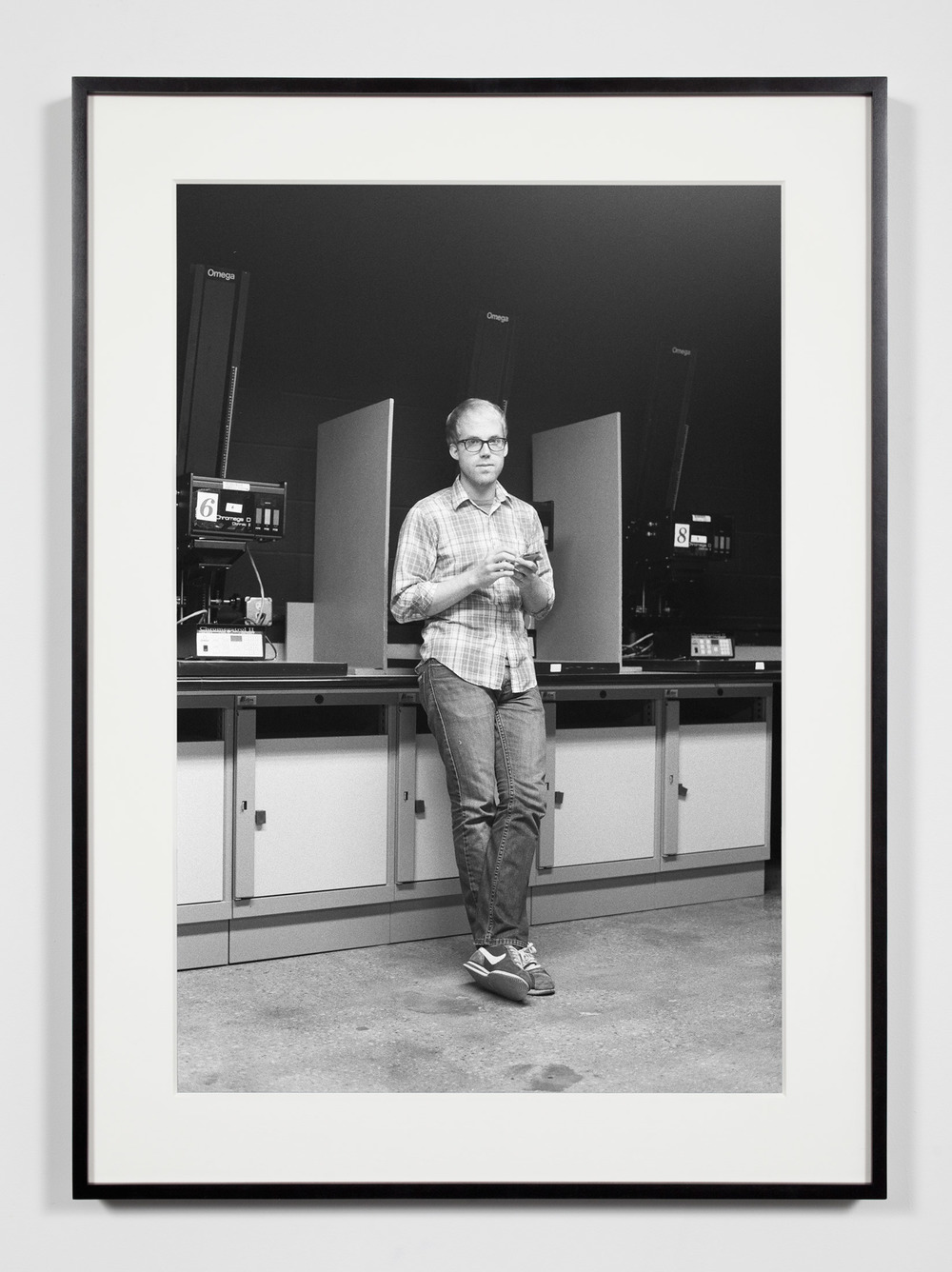 Darkroom Assistant (DE), Chicago, Illinois, August 21, 2008    2008   Epson Ultrachrome K3 archival ink jet print on Hahnemühle Photo Rag paper  36 3/8 x 26 3/8 inches   Industrial Portraits, 2008–