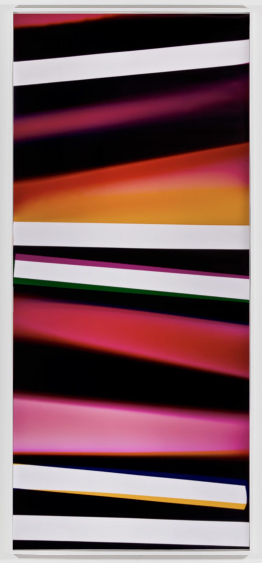 Black Curl (CMY/Five Magnet: Irvine, California, March 26,2010, Fujicolor Crystal Archive Super Type C, Em. No. 165-021, 07510)    2011   Color photographic paper  112 x 50 inches   Black Curls, 2010–2013