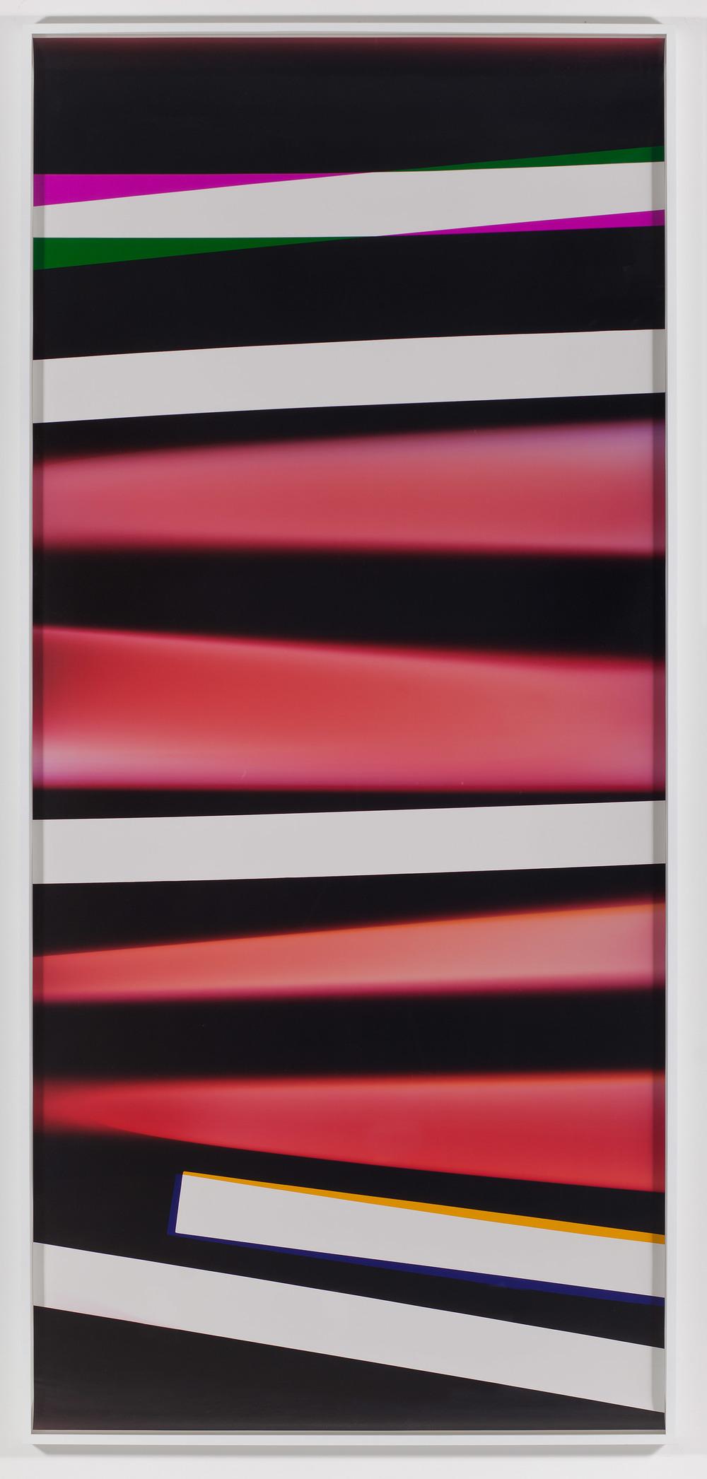 Black Curl (CMY/Five Magnet: Irvine, California, March 26,2010, Fujicolor Crystal Archive Super Type C, Em. No. 165-021, 07210)    2011   Color photographic paper  112 1/2 x 50 inches   PROCESSCOLORFIELD, 2011