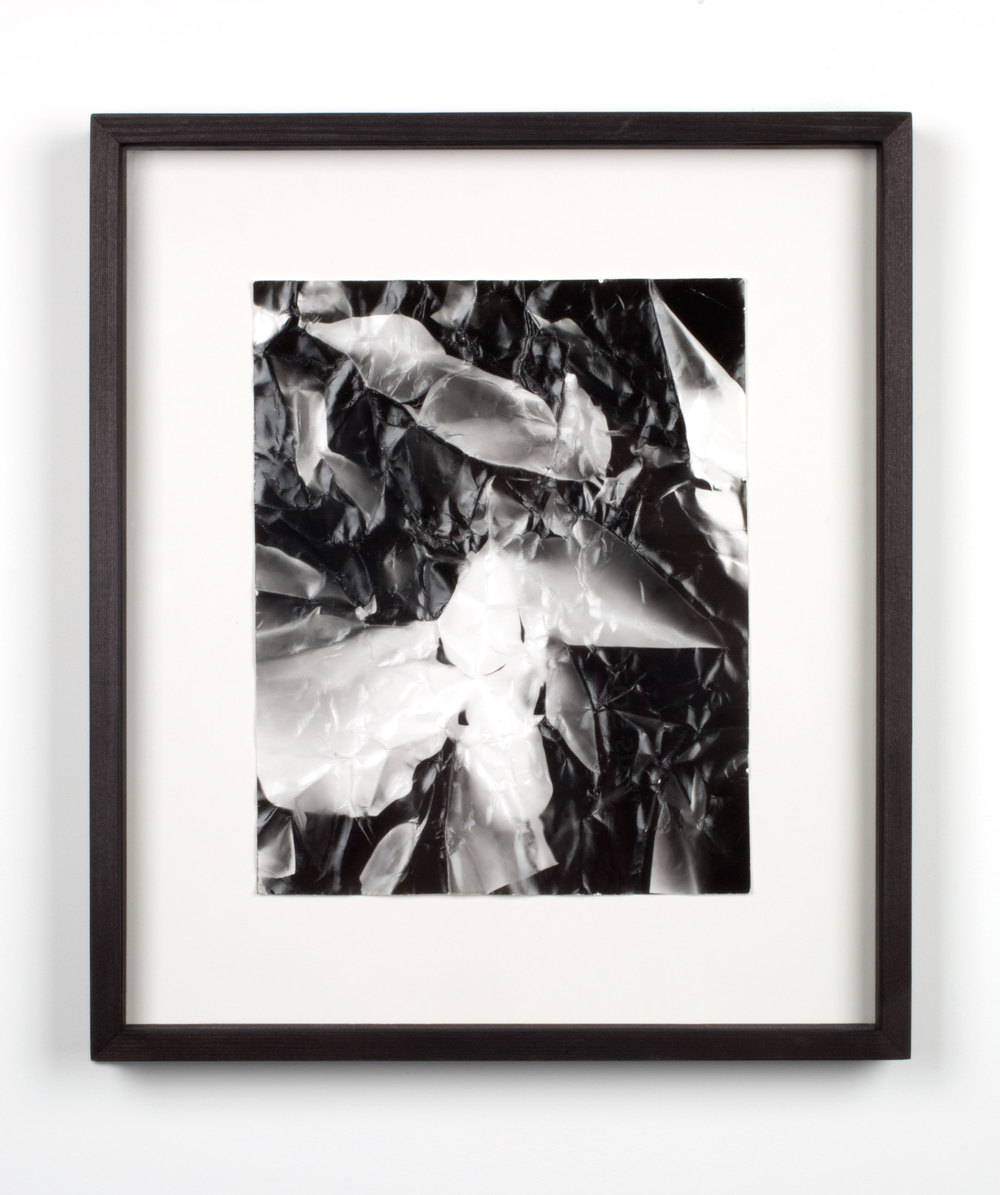 Picture Made by My Hand with the Assistance of Light    2011   Black and white fiber based photographic paper  14 7/8 x 12 7/8 inches   Pictures Made by My Hand with the Assistance of Light, 2005–2014