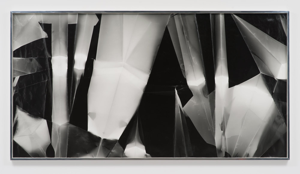 Fold (60º/90º/120º/160º directional light sources), December 31st 2012, Los Angeles, California, Ilford Multigrade IV MGF.1K    2012   Black and white fiber based photographic paper  55 x 118 3/4 inches