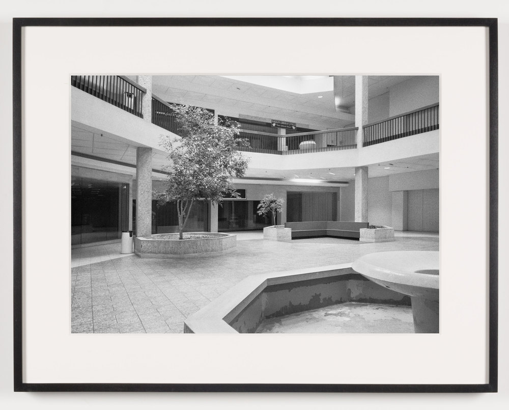 Randall Park Mall (View of Fountain, Seating Area), North Randall, OH, Est. 1976, Demo. 2014    2011   Epson Ultrachrome K3 archival ink jet print on Hahnemühle Photo Rag paper  21 5/8 x 28 1/8 inches   American Passages, 2001–2011