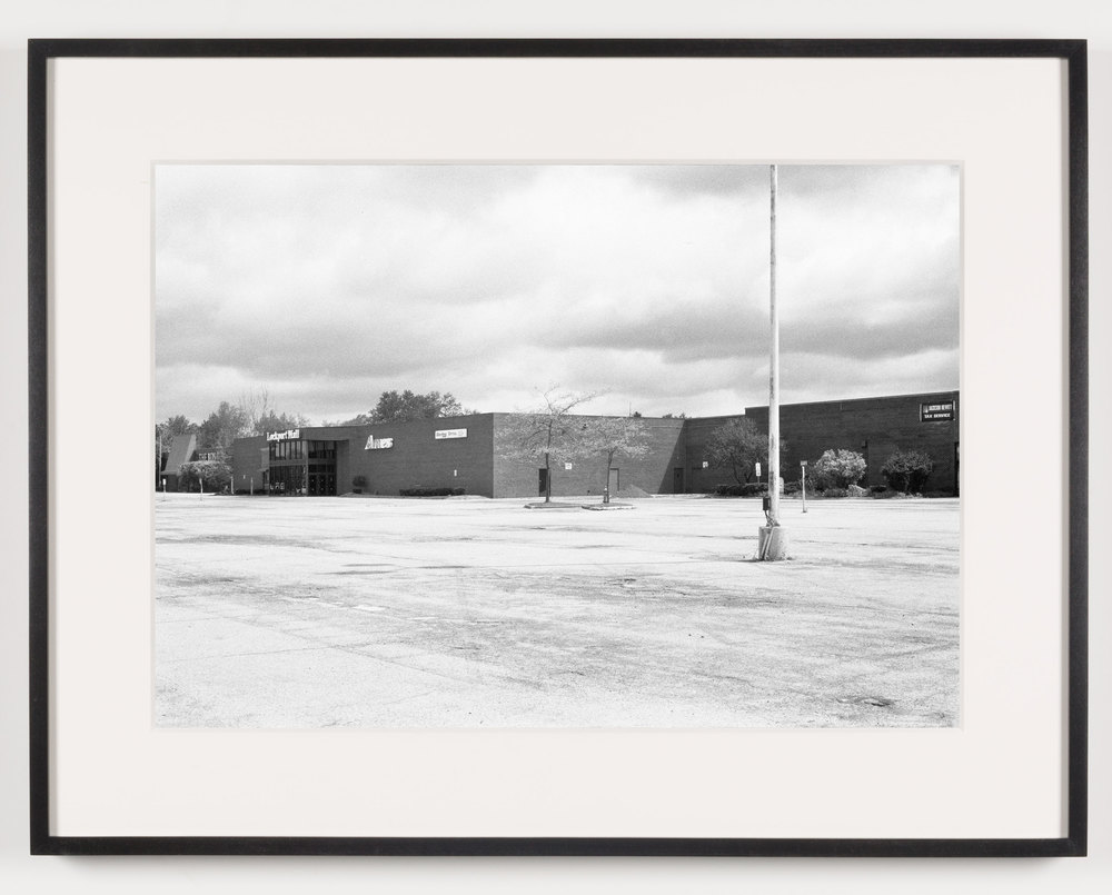 Lockport Mall (View of Exterior), Lockport, NY, Est. 1971, Demo. 2011    2011   Epson Ultrachrome K3 archival ink jet print on Hahnemühle Photo Rag paper  21 5/8 x 28 1/8 inches   American Passages, 2001–2011