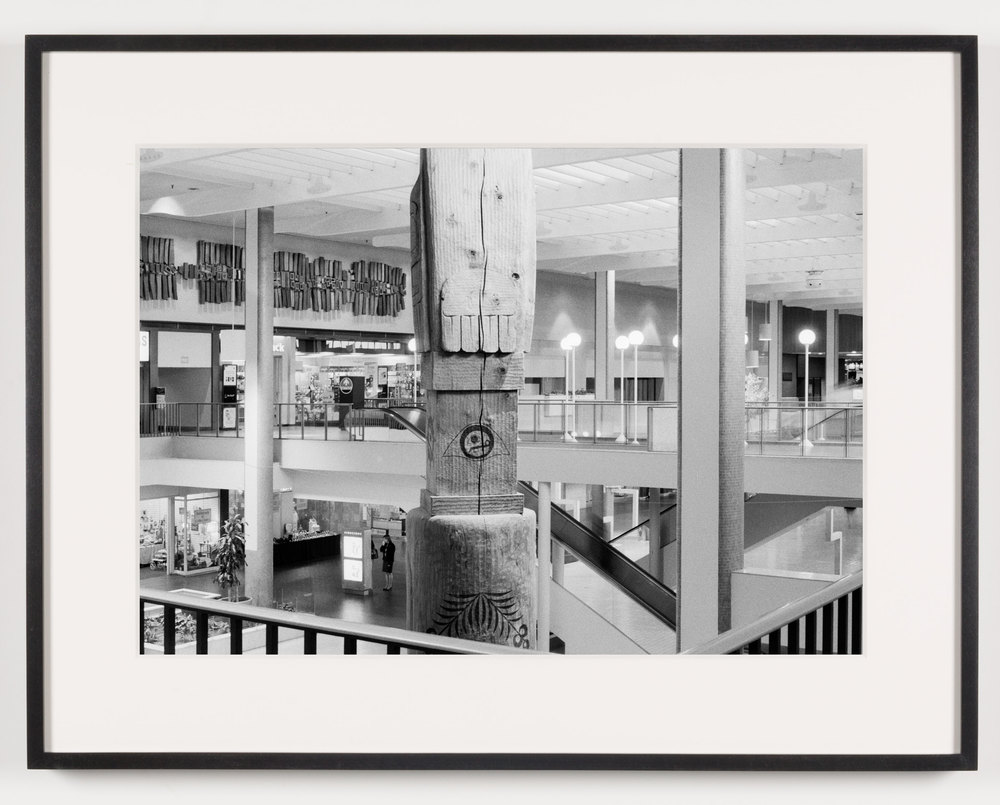 Midtown Plaza (View of Totem Pole, Back), Rochester, NY, Est. 1962, Demo. 2010    2011   Epson Ultrachrome K3 archival ink jet print on Hahnemühle Photo Rag paper  21 5/8 x 28 1/8 inches   American Passages, 2001–2011