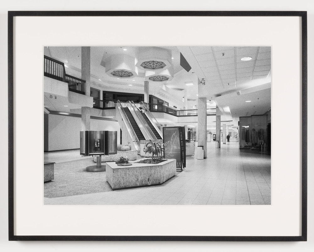 Randall Park Mall (View of Interior), North Randall, OH, Est. 1976, Demo. 2014    2011   Epson Ultrachrome K3 archival ink jet print on Hahnemühle Photo Rag paper  21 5/8 x 28 1/8 inches   A Diagram of Forces, 2011