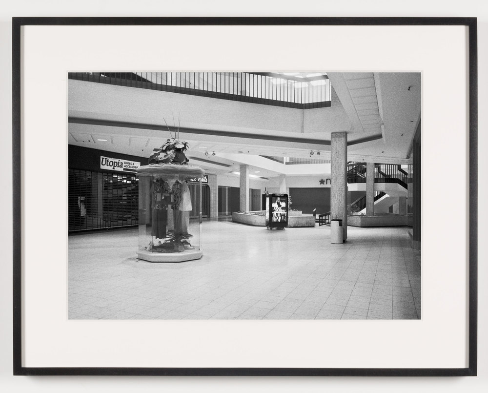 Randall Park Mall ('Utopia Shoes & Accessories,' 'Le Nails,' 'Macy's'), North Randall, OH, Est. 1976, Demo. 2014    2011   Epson Ultrachrome K3 archival ink jet print on Hahnemühle Photo Rag paper  21 5/8 x 28 1/8 inches   A Diagram of Forces, 2011
