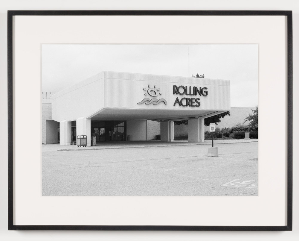 Rolling Acres Mall (View of Main Entrance) Akron, OH, Est. 1975    2011   Epson Ultrachrome K3 archival ink jet print on Hahnemühle Photo Rag paper  21 5/8 x 28 1/8 inches   A Diagram of Forces, 2011
