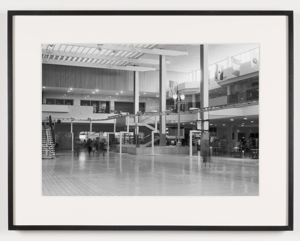 Midtown Plaza (View of Central Plaza Looking South), Rochester, NY. Est. 1962, Demo 2008    2011   Epson Ultrachrome K3 archival ink jet print on Hahnemühle Photo Rag paper  21 5/8 x 28 1/8 inches   A Diagram of Forces, 2011