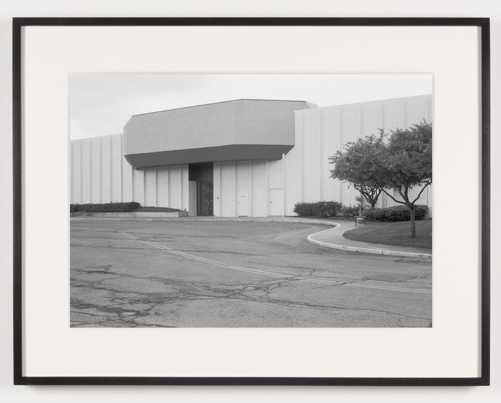 Midway Mall (View of Exterior, 'Sears'), Elyria, OH, Est. 1965    2011   Epson Ultrachrome K3 archival ink jet print on Hahnemühle Photo Rag paper  21 5/8 x 28 1/8 inches   A Diagram of Forces, 2011