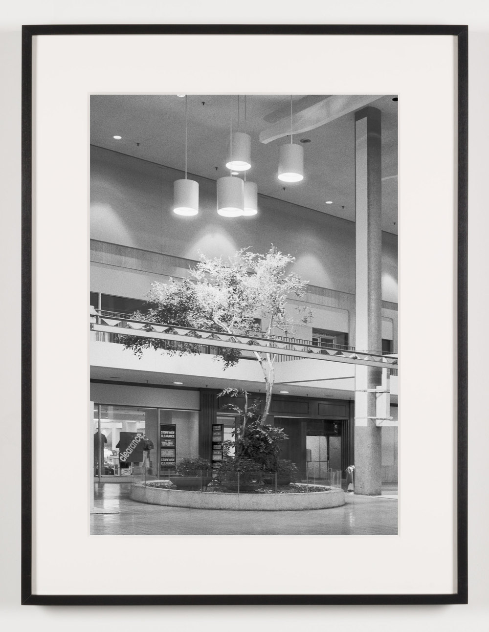 Midtown Plaza (View of Central Plaza), Rochester, NY, Est. 1962, Demo. 2010    2011   Epson Ultrachrome K3 archival ink jet print on Hahnemühle Photo Rag paper  21 5/8 x 28 1/8 inches   A Diagram of Forces, 2011