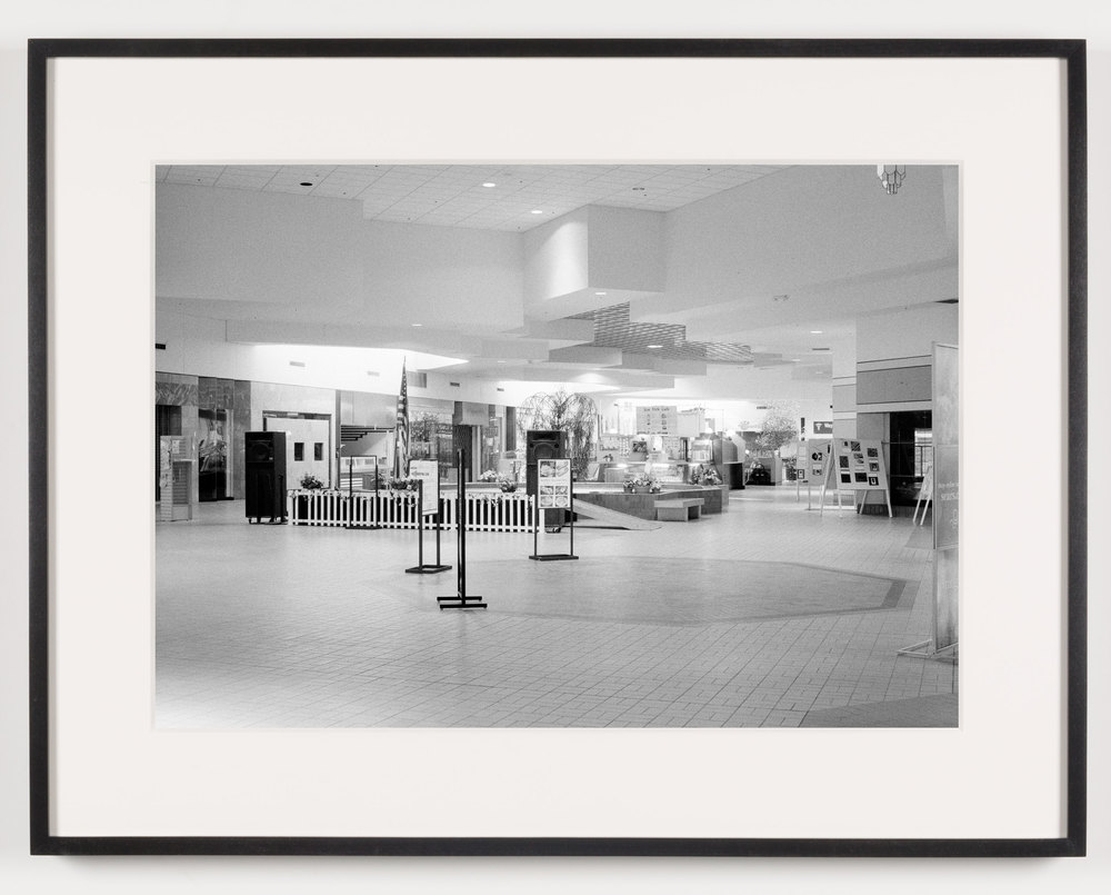 Livonia Mall (View of Community Stage), Livonia, MI. Est. 1964, Demo. 2008    2011   Epson Ultrachrome K3 archival ink jet print on Hahnemühle Photo Rag paper  21 5/8 x 28 1/8 inches   A Diagram of Forces, 2011