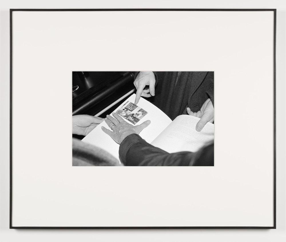 Die Erotische (Vienna, Austria, November 22, 2012)    2014   Black and white digital fiber print  13 1/2 x 20 inches   Art Handling, 2011–