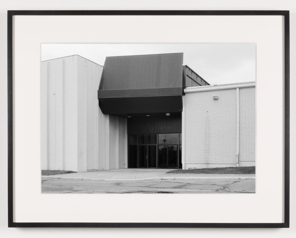 Midway Mall (View of Exterior), Elyria, OH, Est. 1965    2011   Epson Ultrachrome K3 archival ink jet print on Hahnemühle Photo Rag paper  21 5/8 x 28 1/8 inches   A Diagram of Forces, 2011