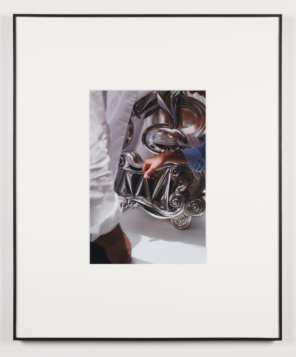 Die Abstimmung (Beirut, Lebanon, June 1, 2013), Frame No. 13    2014   Chromogenic print  20 x 13 1/2 inches   Gastarbeiten, 2014