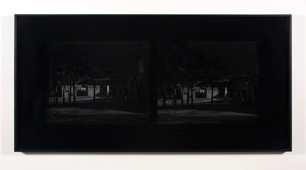 Excursionist Views (Church St. Housing, 1969, courtyard detail)    2001/2005   Chromogenic print  48 x 96 inches
