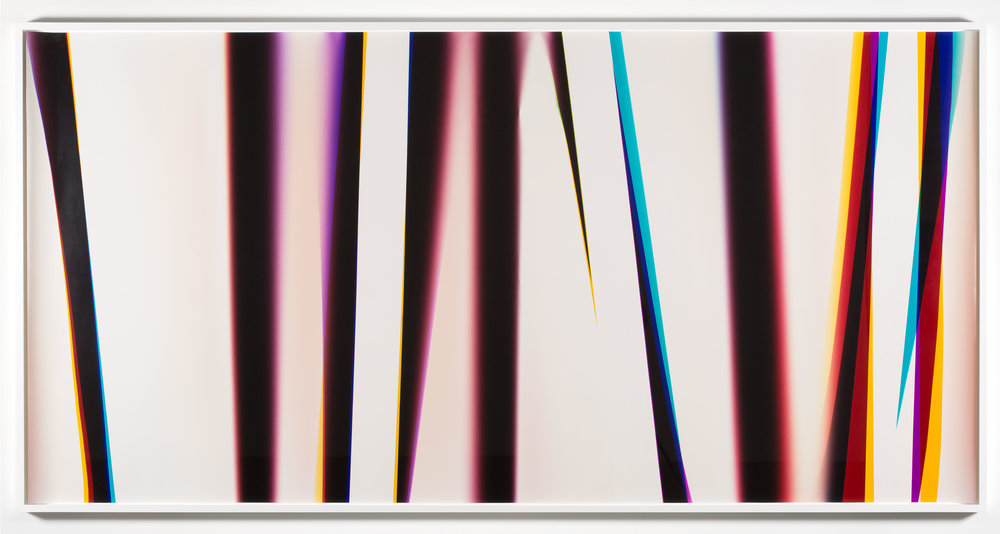White Curl (CMY/Four Magnet: Los Angeles, California, February 28, 2013, Fuji Color Crystal Archive Super Type C, Em. No. 166-016, 05213)    2013   Color photographic paper  50 x 102 3/4 inches