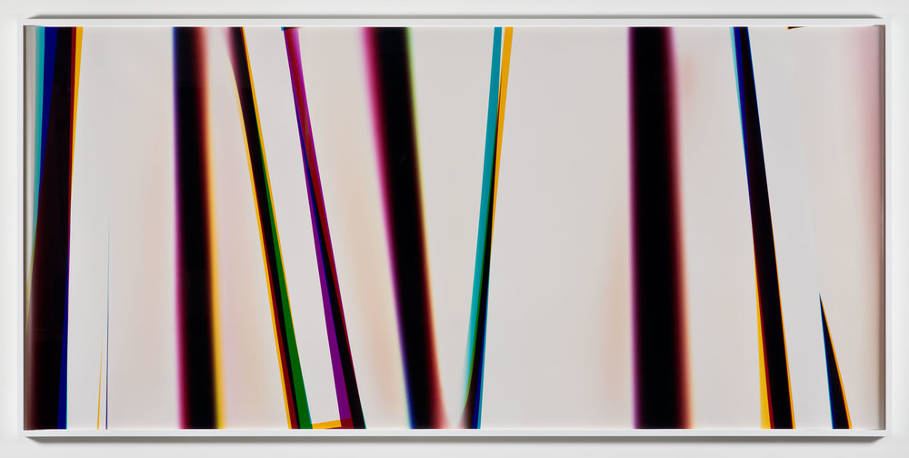 White Curl (YMC/Four Magnet: Los Angeles, California, February 27, 2013, Fuji Color Crystal Archive Super Type C, Em. No. 166-016, 07013)    2013   Color photographic paper  50 x 108 1/2 inches