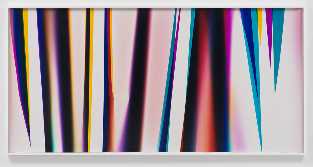 White Curl (CMY/Four Magnet: Los Angeles, California, February 21, 2013, Fuji Color Crystal Archive Super Type C, Em. No. 186-007, 08013)    2013   Color photographic paper  50 x 103 inches