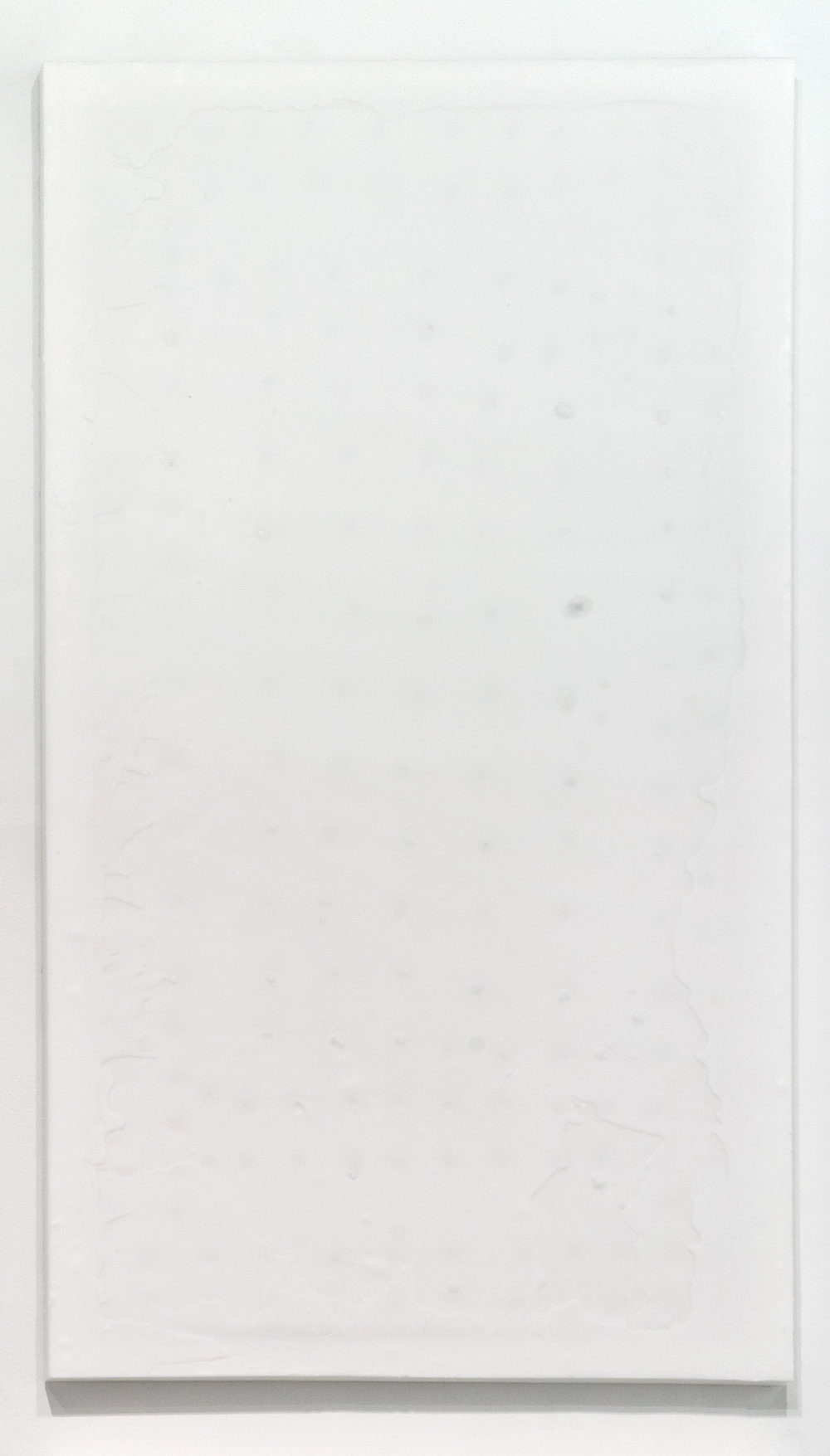 Soft Picture (Reverse Cast Exxon Slack Wax 75:493644; December 5, 2012–March 17, 2013, Miami Beach, Florida)    2012   Petroleum wax and wood strainer  90 x 50 inches   The Endless Renaissance, 2012