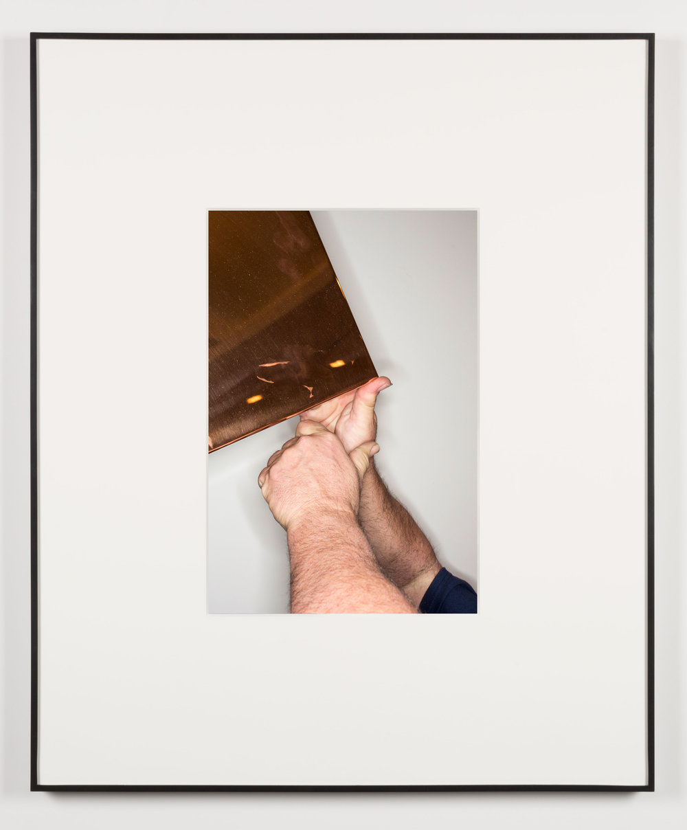 Das Gesicht des Terrors (Los Angeles, California, February 20, 2014)   2014  Chromogenic print  20 x 13 1/2 inches   Art Handling, 2011–    Selected Bodies of Work, 2014