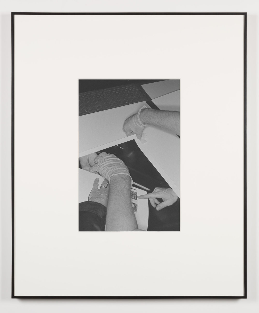 Die Qual der Lust (Los Angeles, California, August 15, 2013), Frame No. 14   2014  Black and white digital fiber print  20 x 13 1/2 inches   Art Handling, 2011–    Selected Bodies of Work, 2014
