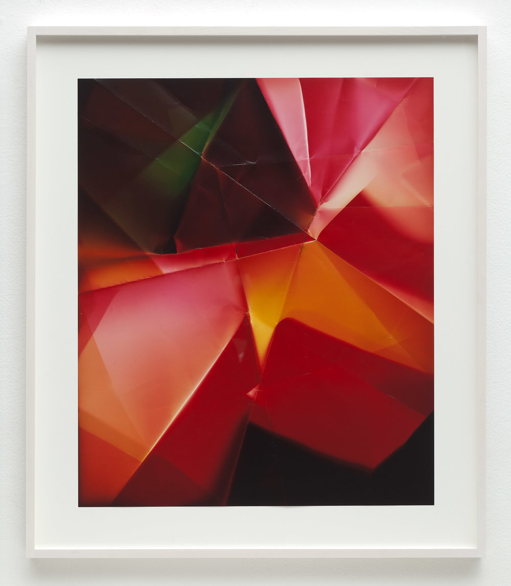 Four-Sided Picture (GMYR), January 11,2007, Valencia, California, Fujicolor Crystal Archive   2011  Color photographic paper  26 1/2 x 22 1/2 inches   Multi-Sided Folds, 2007–    A Diagram of Forces, 2011
