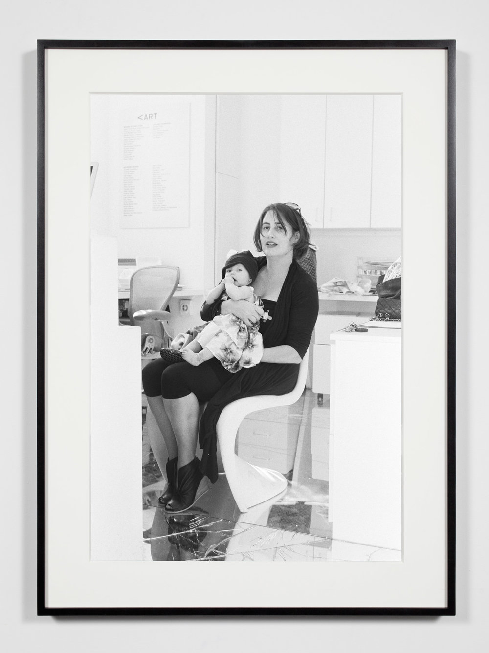 Nonprofit Director/Curator with Daughter, Los Angeles, California, March 17, 2009   2011  Epson Ultrachrome K3 archival ink jet print on Hahnemühle Photo Rag paper  36 3/8 x 26 3/8 inches   Industrial Portraits, 2008–    A Diagram of Forces, 2011