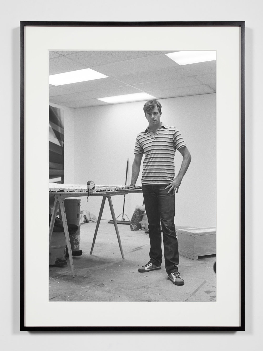 Studio Assistant, Los Angeles, California, September 15, 2009   2011  Epson Ultrachrome K3 archival ink jet print on Hahnemühle Photo Rag paper  36 3/8 x 26 3/8 inches   Industrial Portraits, 2008–    A Diagram of Forces, 2011